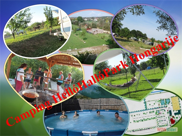 01 Camping collage  HelloHalloPark Hongarije